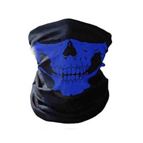 Half Costume Joker Batman Half (Motorcycle SKULL Ghost Face Windproof Mask Outdoor Sports Warm Ski Caps Bicycle Bike Balaclavas Masks Scarf Halloween Mask (Blue)