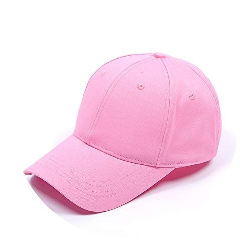 野球帽ソリッドカラー通気性日焼け止めキャップオープンカスタマイズ,ピンク,標準なし