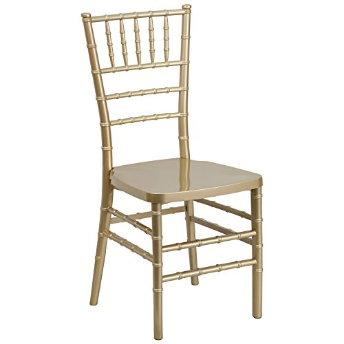 Flash Furniture HERCULES PREMIUM Series Gold Resin Stacking Chiavari Chair (Banquettes For Sale)
