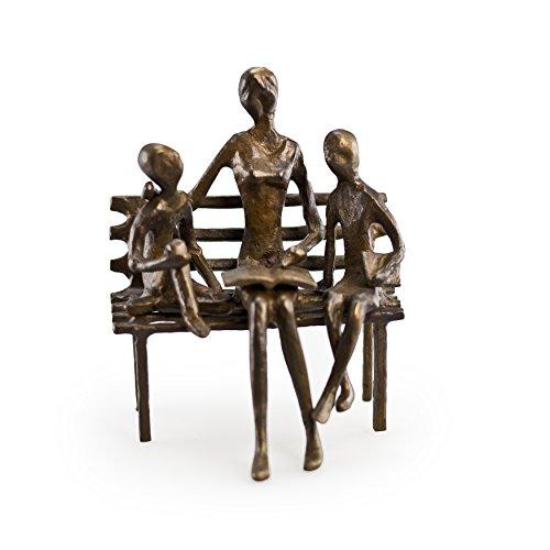 Danya B ZD10034 Mother or Teacher Reading to Children Bronze Sculpture