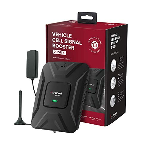 weBoost Drive X (475021) Cell Phone Signal Booster, Cell Signal Booster for Car & Truck - Verizon, AT&T, T-Mobile, Sprint - Boosts Cell Signals - Enhance Your Cell Phone Signal Up to 32X from weBoost