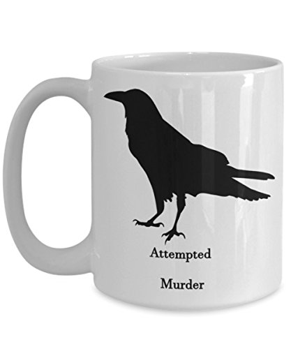 Attempted Murder Funny Cup Funny Mug Coffee Cup Coffee Mug Birthday Present Gift Adult Mug Goth Halloween Sarcastic Joke Office]()