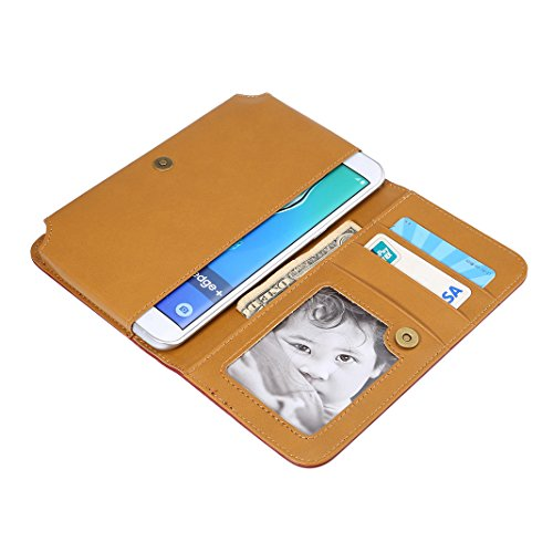 Wallet 6S Pouch Leather Moon 5 5 7 Outdoor Phone Slot Plus Plus iPhone function Universal Plus 8 Shopping mood for Strap Multi Pad Mini Case etc 7 Brown 8 Edge Huawei Inch Holster PU 6 S8 S7 Card Galaxy dzxXTA