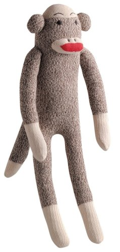 Multipet Plush Dog Toy, Sock Monkey