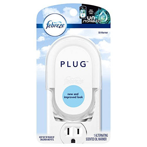 Febreze Plug In Air Freshener Scented Oil Warmer, 4 Count (Oil Not Included)