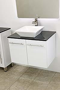 Windbay 36 Quot Wall Mount Floating Bathroom Vanity Sink Set