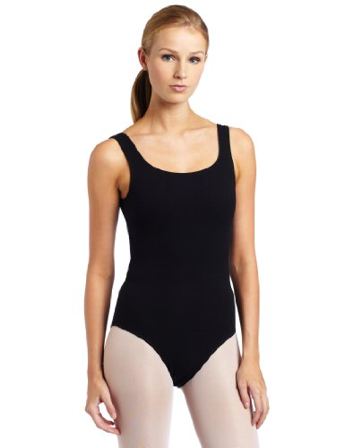 Danskin Women's Tank Leotard Classic Tank, Black, Medium