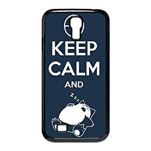 Durable Rubber Cases Samsung Galaxy S4 I9500 Cell Phone Case Black keep calm and zzz Omnpxy Protection Cover