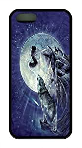 Full Moon Gravity TPU Case Cover for iPhone 5 and iPhone 5s Black