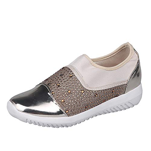 City Double Stretch Flat - GINELO Women Outdoor Breathable Flat Bottom Running Shoes Casual Shoes