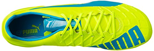 Puma Evospeed 1.4 Mixed Sg - Botas de fútbol Hombre safety yellow-atomic blue-white 04