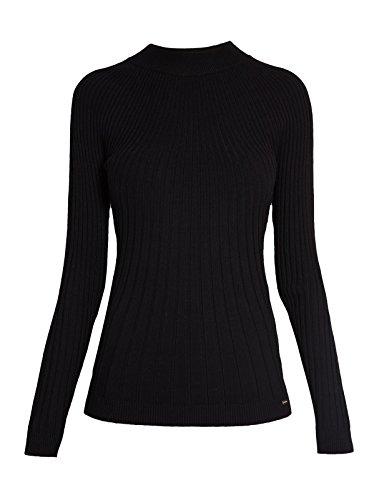 Femme Pull montant Noir Morgan Manches Magelo Noir longues Uni Col wqI0I5