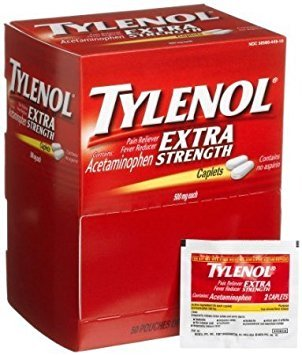 Tylenol(R) Extra-Strength, 2-Caplet Dosage, Box Of 50 (3 Boxes) by Tylenol