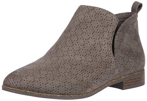 Dr. Scholl's Shoes Women's Rate Ankle Boot, Olive Perforated Microfiber Suede, 8 W US