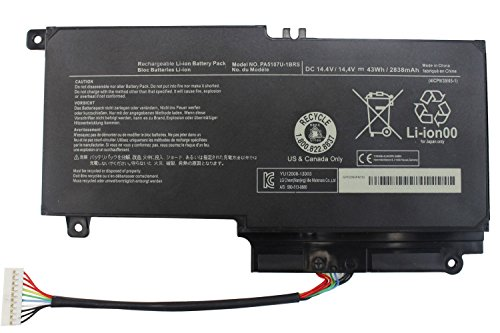 Yongerwy PA5107U-1BRS Laptop Battery for Toshiba Satellite L40d L45 L50 L55a L55d L55 P55 P55t S55 S55t L55-a5226 L55-a5284 L55t-a5290 P55t-a5116 P55t-a5118 P55t-a5202 P55-a5312 S55-a5295 (Toshiba Satellite P55t)
