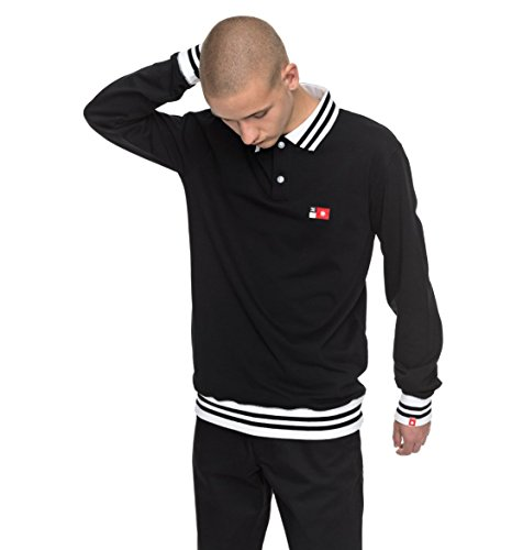 Dc Cotton Polo Shirt (DC Mens Skate Polo Long-Sleeve Shirt 2X-Large Black)