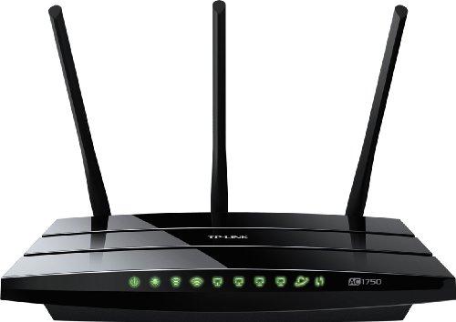 TP-Link Archer C7 AC1750 WLAN Dual Band Gigabit Router (802.11b/g/n/ac, 1750Mbit/s, 4x LAN, 1x WAN, 2x USB 2.0)
