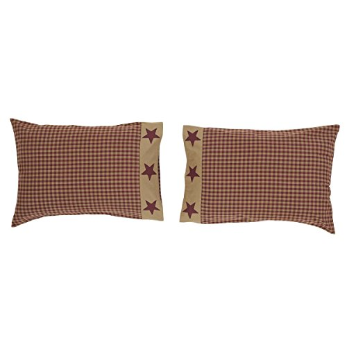 VHC Brands Ninepatch Star 2 Piece Pillow Case Set