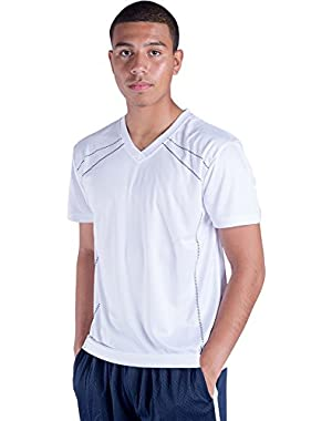 Men's Sportswear Sweat-Wicking Quick Dry V-Neck Cool T-Shirt