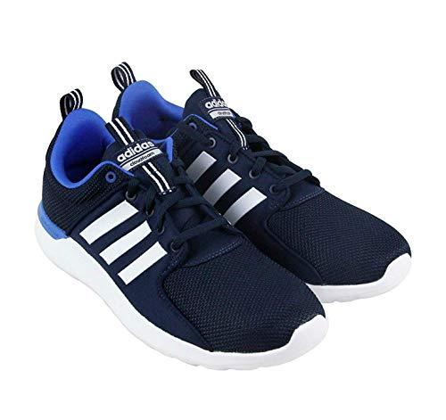 adidas Men's Cf Lite Racer Running Shoe, Dark White/Bright Blue, 11.5 M US