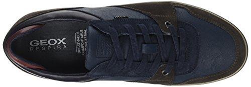 A Homme Sneakers Bleu U navy Coffee Basses dk Box Geox EqxBw4Uq