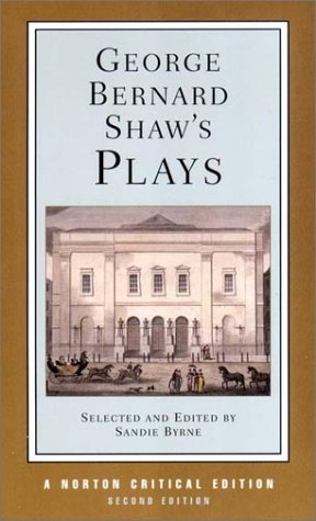 George Bernard Shaw's Plays (Norton Critical Editions) by George Bernard Shaw (2002-05-16)