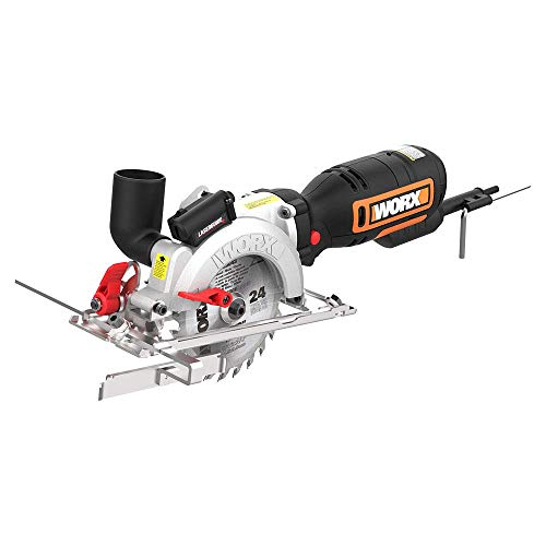 "WORX WX427L 6A 4-1/2"" Corded Compact Circular Saw With 6 Saw Blades"