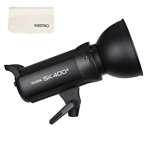 Godox SK400II Studio Strobe 400W, 2.4G Wireless X System GN65 5600K Monolight with Bowens Mount 150W Modeling Lamp, Outstanding Output Stability, Anti-Preflash