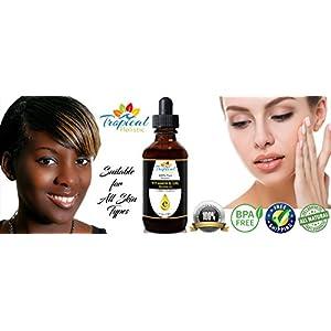 100% Pure Organic Vitamin E Oil, BIG 4 oz - Maximum Strength 75,000IU-Blocks Free Radicals, Slows Aging, Reduces Wrinkles, Makes Beautiful Skin & Hair, Helps Heal Scars, Treats Sunburn