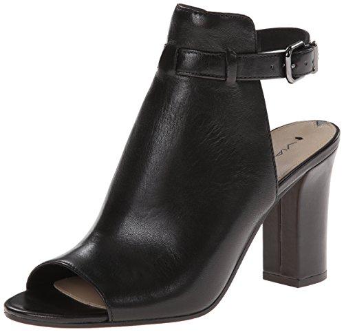 Via Spiga Womens Fabrizie Open Toe Bootie Black/Black