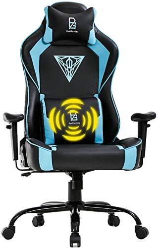 PC Gaming Chair Big and Tall Office Chair 400lb Wide Seat Ergonomic Racing Desk Chair High Back Rolling Swivel Adjustable Massage Computer Chair with Lumbar Support Armrest Headrest Game Chair