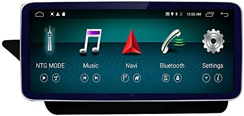 10.25 Round Corner Car Touch Screen, 4GB RAM,64GB ROM 1920 x 720 Resolution Blu-ray HD Car Radio Bluetooth GPS Navigation WiFi Head Unit Screen for Mercedes Benz E 2009-2014 NTG4.X