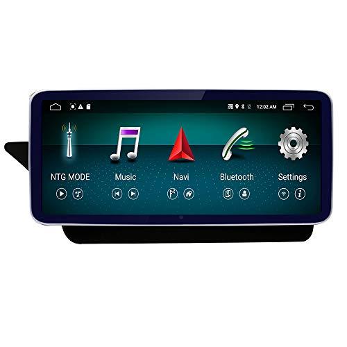 10.25 Round Corner Car Touch Screen, 4GB RAM,64GB ROM 1920 x 720 Resolution Blu-ray HD Car Radio Bluetooth GPS Navigation WiFi Head Unit Screen for Mercedes Benz E 2009-2014 NTG4.X