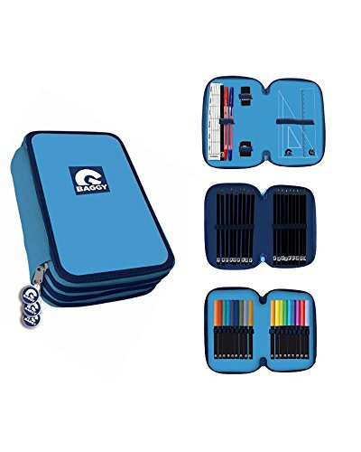 Amazon.com: BAGGY 3 Tier Pencil Case with Stationery ...