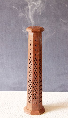 Tower Incense (Wooden Incense Stick Cone Burner Tower Holder Stand Ash Catcher Home Fragrance Accessories)