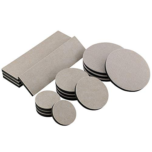 (Smart Surface 8198 Hard Surface Reusable Furniture Felt Moving Sliders Combo Pack 16-Piece in Resealable Bag)
