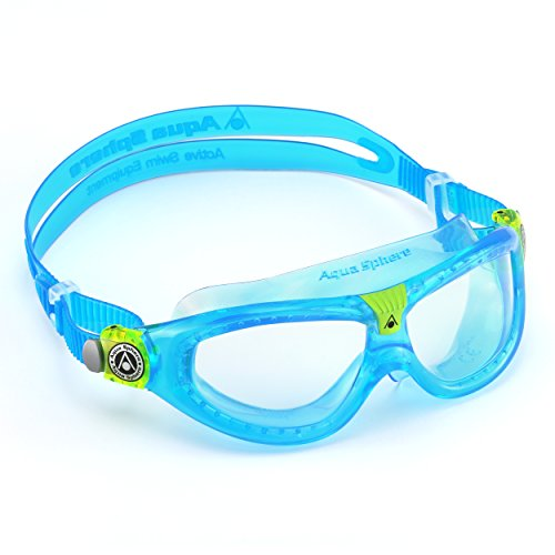 (Aqua Sphere Seal Kid 2 Swim Goggle, Clear Lens / Aqua)