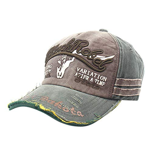 (OSTELY Unisex Classic Retro Washed and Worn Embroidery Baseball Adjustable Cap Casual Street Dance Hats Dad-Cap(Army Green))