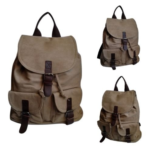 Army Pc Uomo Borsa Canvas Zainetto In Zaino Viaggio Khaki Nobrand Tasche Vintage generico Tela coffee Donna AT4wWO7q