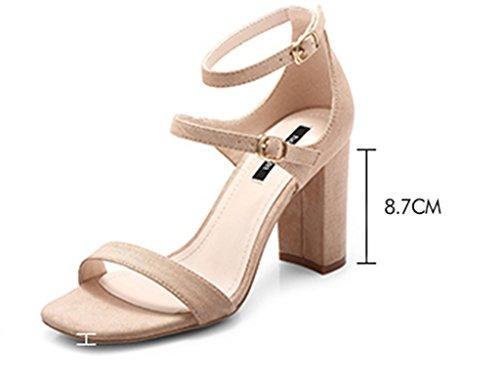Verano Tacones Tac De De Zapatos De ZCJB De Mujer Zapatos Gruesos Sandalias w0T4qI