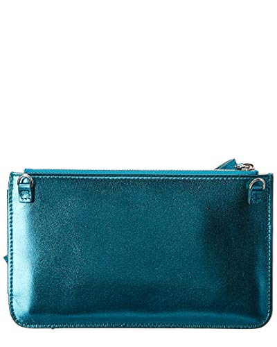 Zip Clutch Bow Green Leather Delpozo Mini ZHEqzz