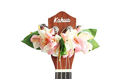 - ukuhappy Ukulele Ribbon Leis Hawaiian Crafts Ukulele Accessories Crocus Pink