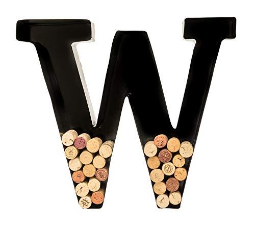Wine Cork Holder - Metal Monogram Letter (W) ()