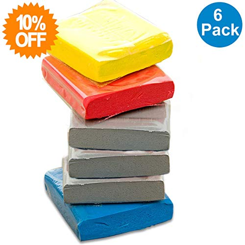 - Knead Erasers, Drawing Art Kneaded Erasers, Large Kneaded Rubber Erasers for Drawing, Charcoal, Pastels-Moldable Putty Rubber, No Smudge Eraser, Sketching Supplies for Artists-6 Pack (Assorted Colors)