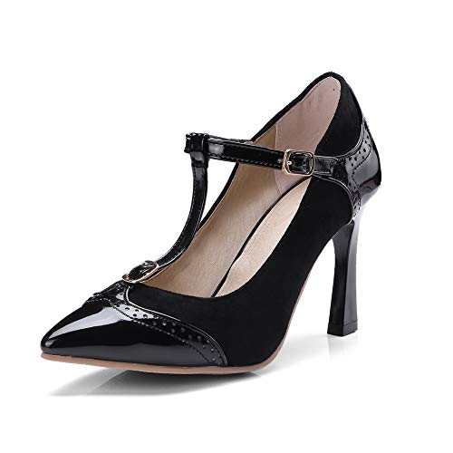 Pumps Shoes Pleated Hounds Womens Tooth APL10636 Urethane BalaMasa Black Travel qSYFqx