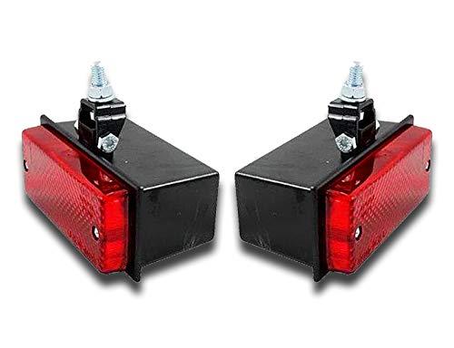 camionnette remorque camping-car tracteur caravane Lot de 2 phares antibrouillard arri/ère halog/ènes 12 V 24 V pour voiture pickup SUV bo/îte /à chevaux camion