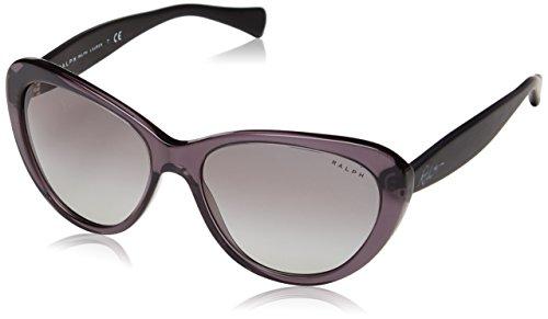 Ralph by Ralph Lauren Women's 0RA5189 Round Sunglasses, Grey,Satin Black,Grey & Gradient Satin Black, 56 - Sunglasses Ladies Ralph Lauren