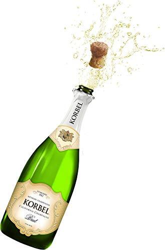Korbel California Champagne Bottle Pop Cork Edible Cake Topper Image ABPID01862 - 1/4 sheet