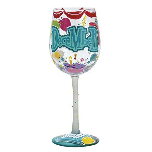 Lolita Birthday Month Wine Glass with Westwood Gourmet Bottle Opener (Happy December) (Westwood Opener Bottle)