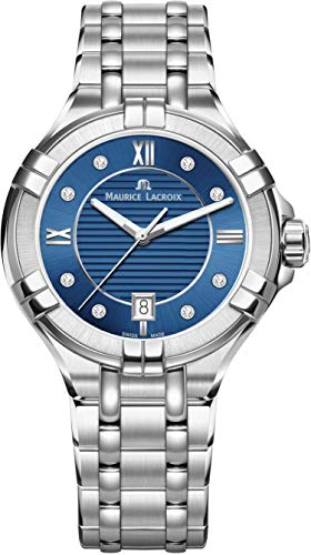 Maurice Lacroix Women's Aikon 35mm Mother of Pearl Watch | Blue/Silver